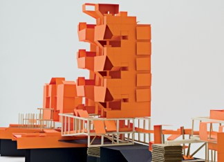 """Created by the McClures during their year in Rome, the model represents a housing prototype for Ostia, Italy. (For more information, visit """"un-built work"""" at emerymcclure.com.)"""