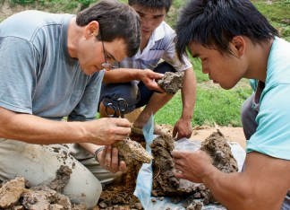 Because historical texts of the Han period in China focused chiefly on wealthy imperial cities, the archaeologists at Sanyangzhuang are developing the first record of life on China's plains. Professor Kidder (left) anticipates that the complex site will require increasing numbers of experts as questions proliferate. (Courtesy Photo)