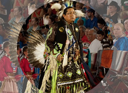 """The Pow Wow's theme was """"There is Wisdom and Wellness Within the Circle."""" (Joe Angeles)"""