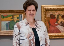 Professor Childs synthesizes her ongoing work on French Polynesia and works by Gauguin, John La Farge and others in the forthcoming book, Vanishing Paradise: Art and Exoticism in Colonial Tahiti, 1880–1901. She is pictured above at the Saint Louis Art Museum. (David Kilper)