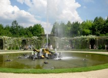 During their time in France, students tour the Versailles Palace, including The Encelade Fountain, designed by Gaspard Marsy, 1675. (Courtesy Photo)