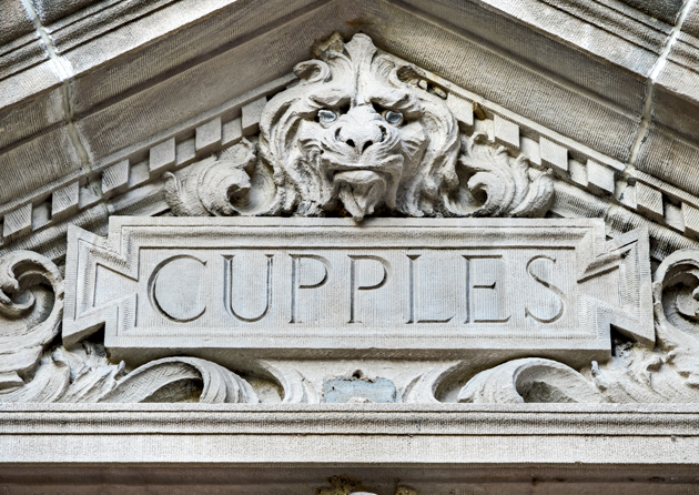 CUPPLES I: A variety of figures greet visitors as they enter Cupples Hall. (Photo: James Byard)