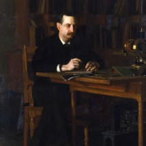 "Thomas Eakins (American, 1844–1916), ""Portrait of Professor W. D. Marks,"" 1886. Oil on canvas, 76 3/8 x 54 1/8"". Mildred Lane Kemper Art Museum, Washington University in St. Louis. University purchase, Yeatman Fund, 1936."