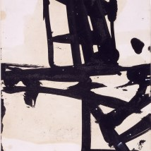"Franz Kline (American, 1910–1962), Untitled, c. 1950. Ink on paper, 11 x 8 1/2"". Mildred Lane Kemper Art Museum, Washington University in St. Louis. University purchase, 1967. © 2016 The Franz Kline Estate / Artists Rights Society (ARS), New York"