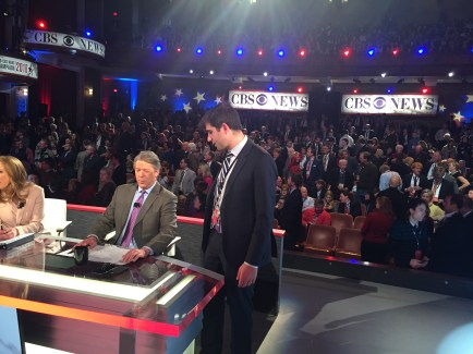 Arden Farhi, AB '07, produces Major Garrett's news segments for CBS news.