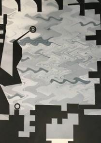 "Carmon Colangelo, ""Remote Sensing,"" 2016. Monotype relief print, 47"" x 35."" (Courtesy of the artist)"