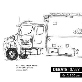 NBC news truck. Artist: Kat Bourek