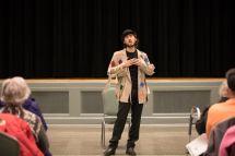"Sophomore Benjamin Zev sings ""Mister Cellophane"" from ""Chicago."""