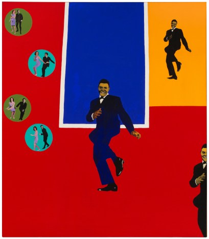"Rosalyn Drexler (American, b. 1926), ""Chubby Checker,"" 1964. Acrylic, oil, and paper collage on canvas, 75 x 65 1/4"". Hirshhorn Museum and Sculpture Garden, Smithsonian Institution, Washington, DC, Gift of Joseph H. Hirshhorn, 1966. © 2017 Rosalyn Drexler / Artists Rights Society (ARS), New York."