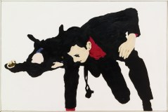"""Rosalyn Drexler (American, b. 1926), """"Sorry About That,"""" 1966. Acrylic, paper on canvas, 48 x 72 1/4"""". Walker Art Center, Minneapolis, Gift of the T.B. Walker Foundation, 1966. © 2017 Rosalyn Drexler / Artists Rights Society (ARS), New York."""