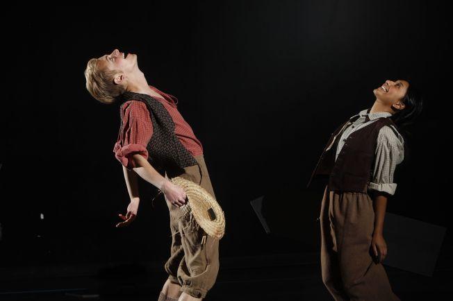 Brandon Krisko as Huck Finn and Nina Punyamurthy as Ben Rogers. (Photo: Jerry Naunheim Jr./Washington University)