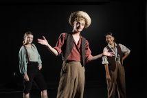 From left: Carly Rosenbaum as Aunt Polly, Brandon Krisko as Huck Finn and Nina Punyamurthy as Ben Rogers. (Photo: Jerry Naunheim Jr./Washington University)