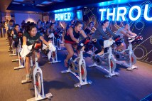 Spinning is among the popular new classes offered at the Sumers Recreation Center. (Dan Donovan/Washington University)