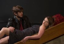 Carly Rosenbaum as Margaret and Josh Parrack as T.M. Power. (Photo: Joe Angeles/Washington University.)