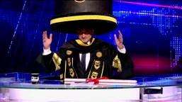Youssef on Al Bernameg, wearing the infamous Morsi Hat.