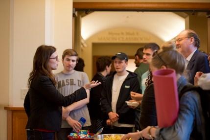 Alumni visit campus
