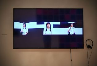 """Anna Maria Tucker, """"Perceptions of the Eyed Persephone,"""" 2016. Single-channel video with sound. (Photo: James Byard/Washington University)"""