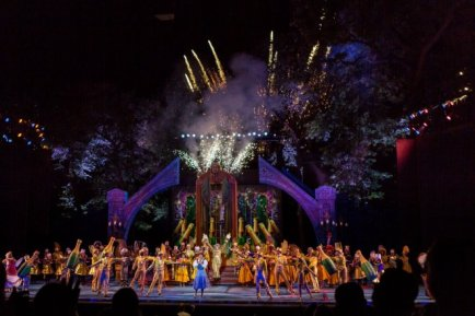 """""""Cheap doesn't have to be boring,"""" the survey says. Let's face it, millennials enjoy free stuff. The survey highlights a number of no-cost activities, including The Muny, """"which offers free seats in the back"""" for high-caliber theatrical performances. (Photo courtesy of The Muny)"""