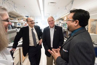 med faculty discuss research with congressman