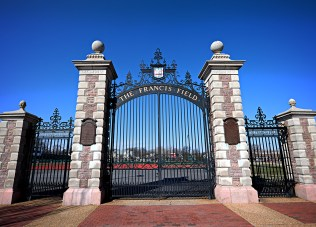 A view of the Francis Field gate today. (Photo: James Byard/Washington University)