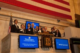 McDonnell Scholars ring opening bell at New York Stock Exchange, 2008