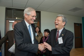Wertsch and a guest at 2014 McDonnell Academy event