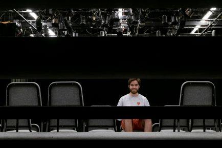 Marschke prepares for rehearsal.