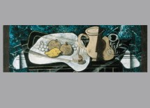 """Georges Braque, The Napkin Ring, 1929. Oil and sand on canvas, 15 3/4 x 47 1/2"""". Indiana University Art Museum, Gift of Dr. and Mrs. Henry R. Hope. Photo: Michael Cavanaugh and Kevin Montague. © 2012 Artists Rights Society (ARS), New York / ADAGP, Paris."""