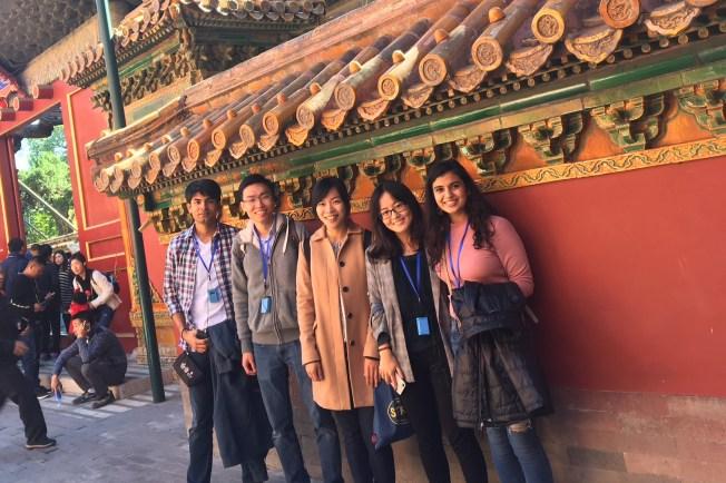 Scholars took in the sights of Beijing, including the Forbidden City.