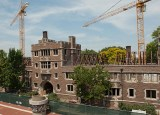 The renovation of Umrath Hall called for removing the roof and taking out the load-bearing interior walls. Although the upgrade totaled the cost for a new building, ultimately, the administration decided that renovation made more sense than replacement. (David Kilper)