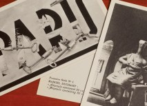 The leading members of the surrealist community — including Dali, Ray, Miro and Picasso — created this 21-postcard series in 1937, which can be viewed in Olin Library Rare Books. (Joe Angeles)