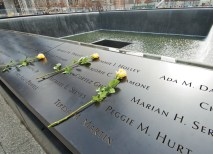 """Instead of following alphabetical, birth or chronological order, names are placed at the memorial in unique and cherished arrangements, based on what Daniels calls """"meaningful adjacencies."""" (Joe Angeles)"""