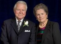 George P., BS '53, MS '59, and Carol B. Bauer received the Robert S. Brookings Award. (David Kilper)