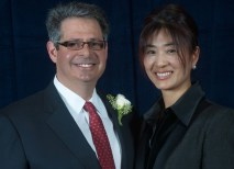 The university also presented Scott and Pyong Rudolph with the Robert S. Brookings Award. (David Kilper)