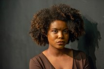 Christina Yancy as the lady in brown.