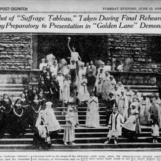 """Suffrage Tableau,"" St. Louis Post-Dispatch, Tuesday, June 13, 1916"