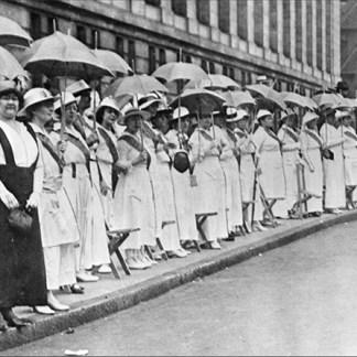 The Golden Lane_St. Louis suffragist demonstration