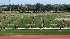 The Washington University Bears football team meets for their first practice of thee 2021 season Aug. 12 at Francis Olympic Field. The season kicks off Sept. 4 at the University of Chicago. (Courtesy photo)