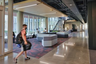 The newly opened McKelvey Hall welcomes students, staff and faculty. (Photo: James Byard/Washington University)