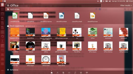 Shopping and Search-Ubuntu 14.04