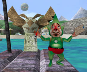 Tingle and the Owl Statue. Great Bay's layout has also been recreated.