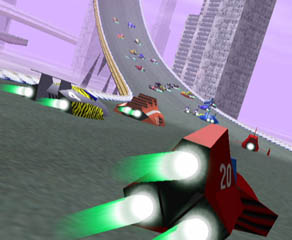 For the F-ZERO cars, we've recreated the designs from F-ZERO X.