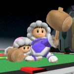 The Ice Climbers join the battle! The blue one is Popo, the pink one is Nana.