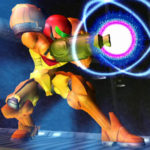 Samus preparing a Charge Shot. We've added a special weapon to her Arm Cannon...