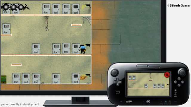 A good example of gamepad connectivity, demonstrating a puzzle that has to be solved by interacting with a security camera.