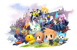 Our heroes in World of Final Fantasy