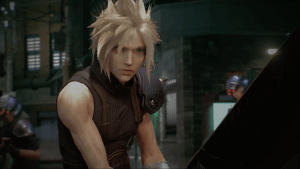 Cloud in the Final Fantasy 7 remake