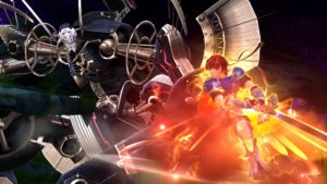 Roy and Metal Face in Super Smash Bros. for Wii U