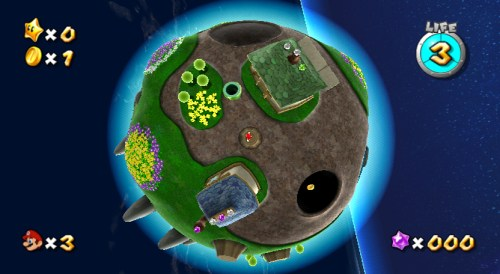 Mario in Super Mario Galaxy's first mission