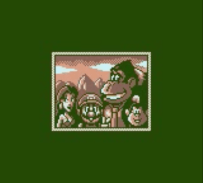 Mario, Pauline, Donkey Kong, and Donkey Kong Jr. in Game Boy's DK